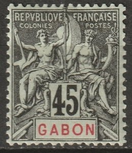 Gabon 1907 Sc 27 Yt 27 MH*