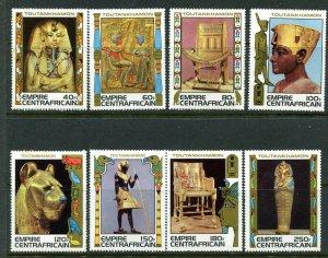 Central African Republic 349 - 356 King Tutankhamen MNH Stamps Complete Set 1978