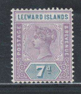 Leeward Islands 1890 Queen Victoria 7p Scott # 6 MH