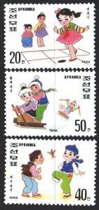 North Korea. 1996. 3827-29. Children's sports games. MNH.