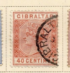 Gibraltar 1889 Early Issue Fine Used 40c. 326910