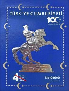 TURKEY/2019-(NUMBERED BLOCK) 100th YEAR OF NATIONAL STRUGGLE (ATATURK, WWI), MNH