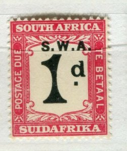 SOUTH WEST AFRICA; 1923 early Postage Due issue Mint hinged 1d. value