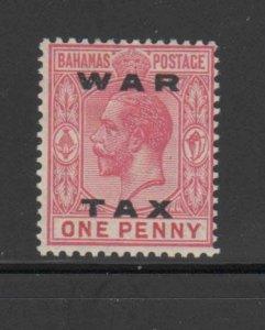 BAHAMAS #MR12  1919  1p KING GEORGE V  WAR TAX   MINT VF LH  O.G