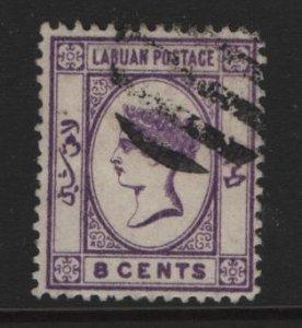 LABUAN, 35, USED, 1892, QUEEN VICTORIA