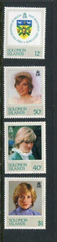 Solomon Islands #471-4 MNH