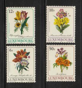 Luxembourg Scott #780-783 MNH