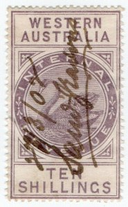 (I.B) Australia - Western Australia Revenue : Internal Revenue 10/- (1899)