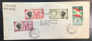 Burundi #25-28 On Cover - Independance Day Issue w/inserts