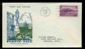 801 PUERTO RICO FDC SAN JUAN, PR PLANTY P68 PAVOIS CACHET TEXTURED ENVELOPE