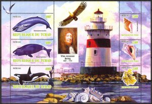 Chad 2011 Lighthouses Shells Whales (12) MNH Cinderella !