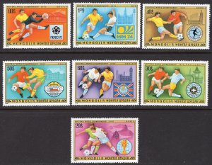 Mongolia MNH 1012-8 Argentina World Cup Soccer 1978
