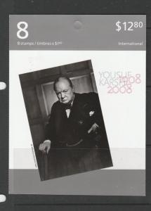 Canada Booklet 2008 Art Canada $12.80, cover showing Winston Churchill SG SB381
