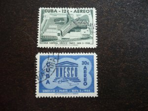 Stamps - Cuba - Scott#C193-C194 - Used Set of 2 Stamps