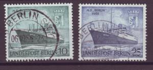 J20687 Jlstamps 1955 berlin germany set used #9n113-4 ships