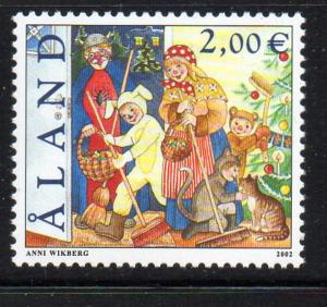 Aland Finland Sc 202 2001 St canute's Day stamp mint NH