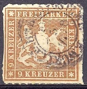 Wuerttemberg #45a Used F-VF