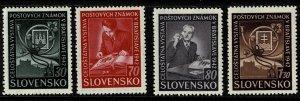 1942 Slovakia Scott Catalog Number 70-73 Unused Never Hinged