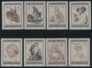 AUSTRIA, 846-853, (8) SET, MNH, 1969, ETCHINGS