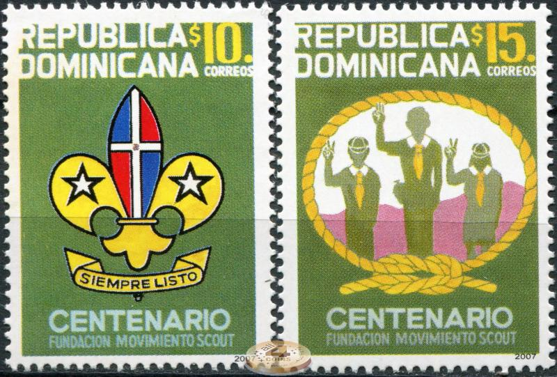Dominican Republic. 2007. Centenary of the Scouting Movement (MNH OG)