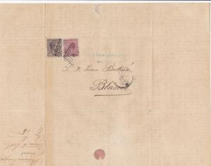 Spain 19th centuary stamps cover Ref 8422