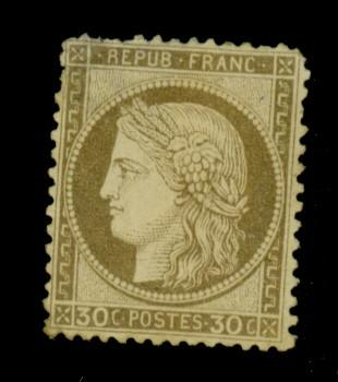 France #62 MINT Fine No Gum thin cat$160