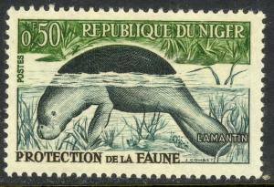NIGER 1962 50c DUGONG / MANATEE Pictorial Sc 107 MNH