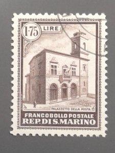 San Marino - 137 VF Used . Scott $ 75.00.