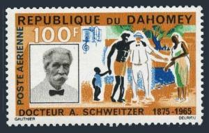 Dahomey C31,lightly hinged.Mi 266. Dr.Albert Schweitzer,medicine,musician.1966.