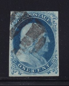 7 VF used neat cancel with nice color cv $ 150 ! see pic !
