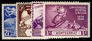 MONTSERRAT SG117-120, COMPLETE SET, VLH MINT. UPU
