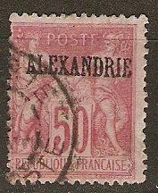 France Off Egypt Alexandria 12a Ce 14 U Fine SCV $24