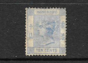 HONG KONG 1900-01   10c   QV   MNG    SG 59
