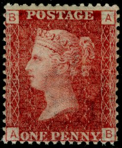 SG44, 1d lake-red plate 165, NH MINT. Cat £65. AB