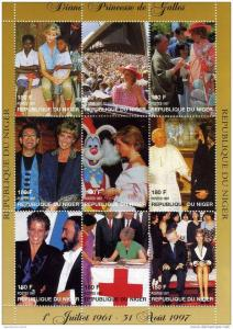 Niger MNH S/S Princess Diana Red Cross 1997