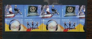 Aland Islands 1998 Youth Activities in block x 8 MNH 2 sets