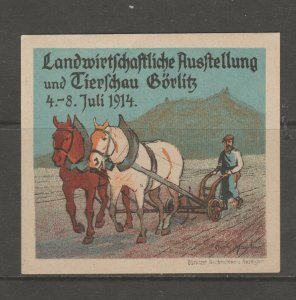 Cinderella revenue fiscal stamp 9-9-59 Germany Large mnh gum