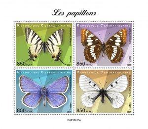 C A R - 2021 -Butterflies - Perf 4v Sheet - Mint Never Hinged