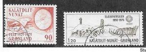 Greenland #100-101   (U) CV $1.00