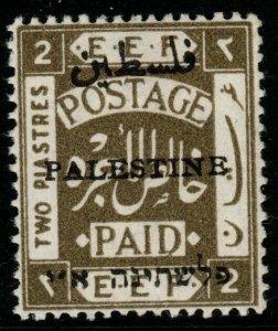 PALESTINE SG53 1921 2p OLIVE MTD MINT