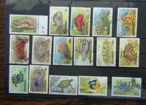 Barbados 1985 Marine Life set to $10 Used