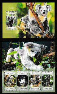 Sao Tome and Principe - KOALA - Set + S.S. - MNH