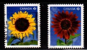 Canada - #2443 - 2444 Sunflowers set/2  - Used
