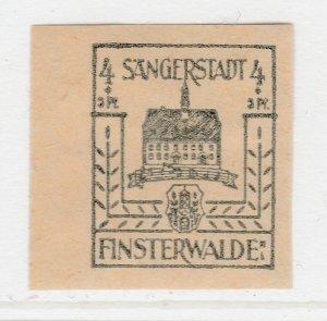 Finsterwalde WWII Germany World War II Local Stamp 1946 4+3pf MNH** A20P4F172