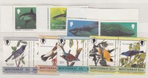 Montserrat QEII 1987 Sharks/Birds Sets Mint MNH J2008