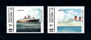 [90696] St. Vincent & Gren.  Ships Mauretania Ocean Liners Cunard Line  MNH
