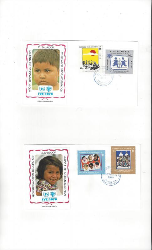 El Salvador FDC International Year of the Child 1979 Official Cachet