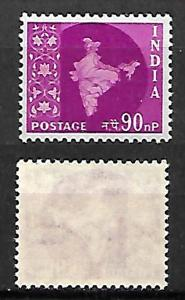 INDIA STAMPS 1957 . MAP OF INDIA, Sc.#288. MLH