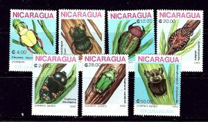 Nicaragua 1728-32 MNH 1986 Insects