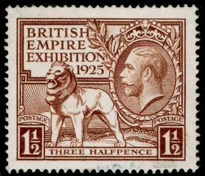 SG433, 1925 1½d brown, FINE USED. Cat £70.